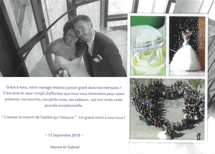 Remerciements de Marine et Gabriel pour Arnaud Lima